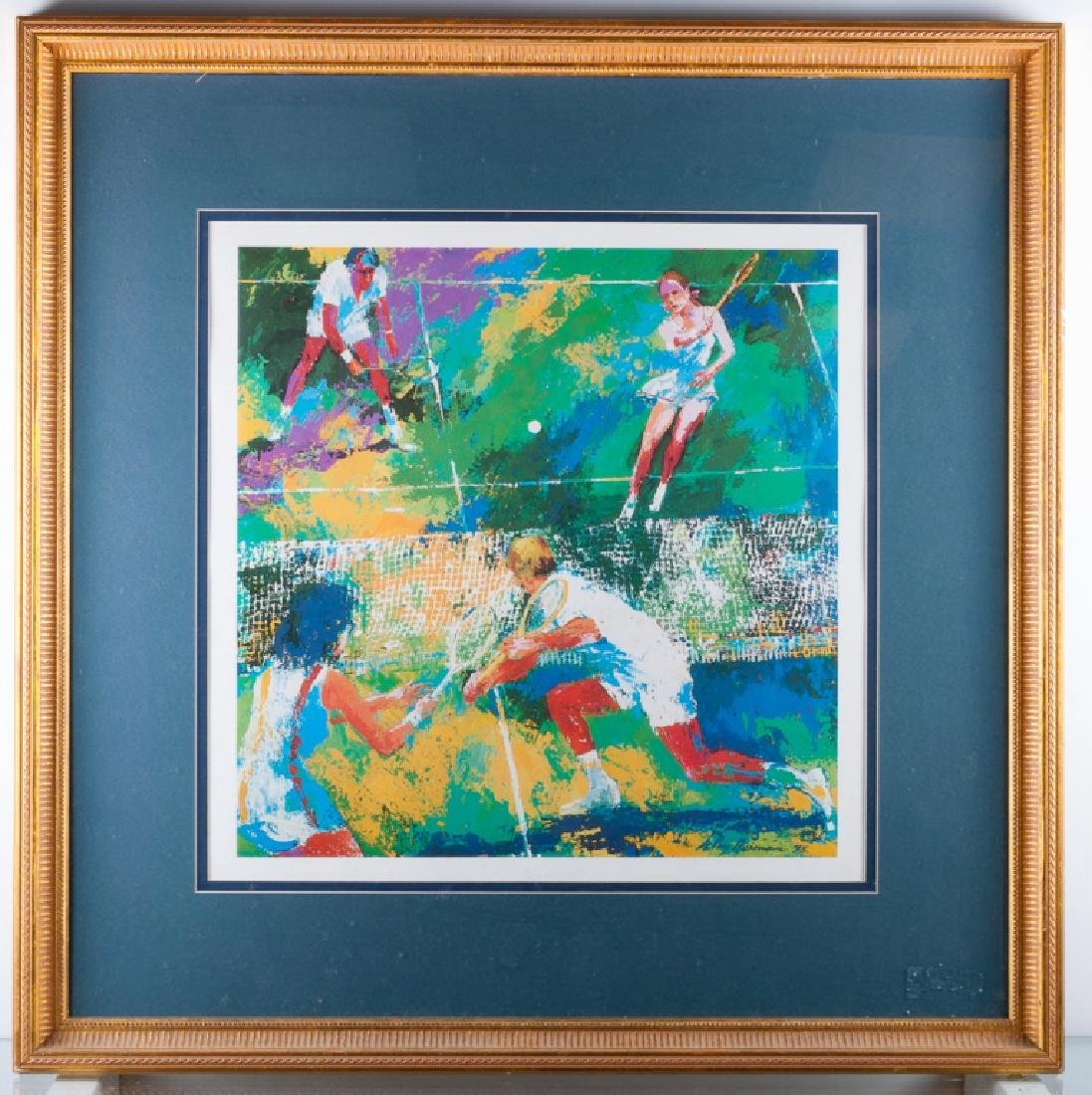 """LeRoy Nieman """"Mixed Doubles"""" Offset Lithograph"""