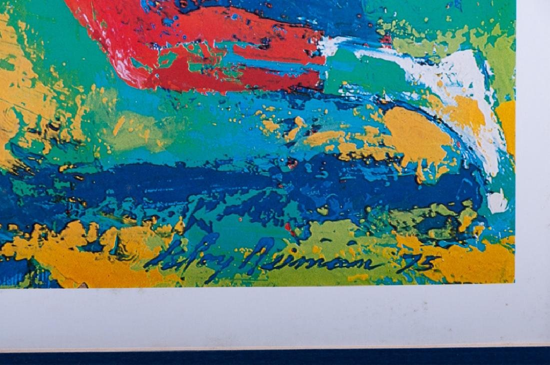"""LeRoy Nieman """"Mixed Doubles"""" Offset Lithograph - 3"""