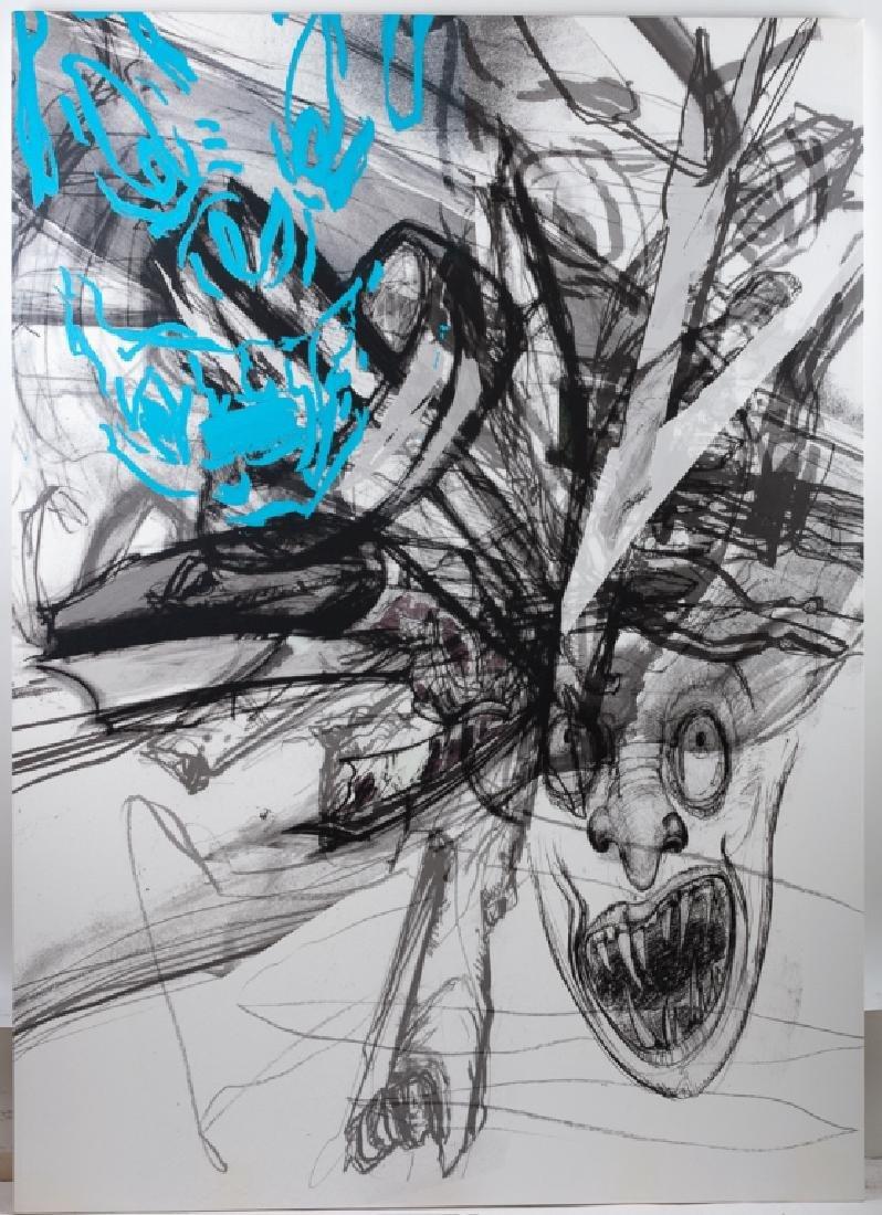 Dennis Balk Ink on Canvas