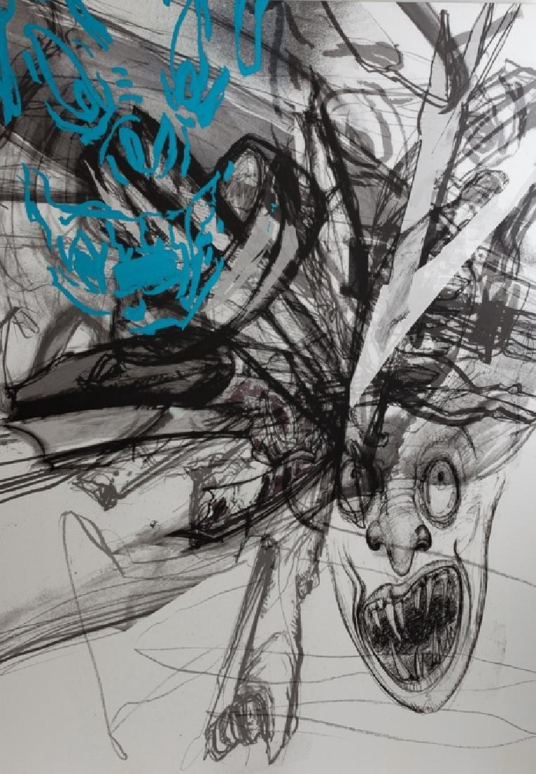 Dennis Balk Ink on Canvas - 2