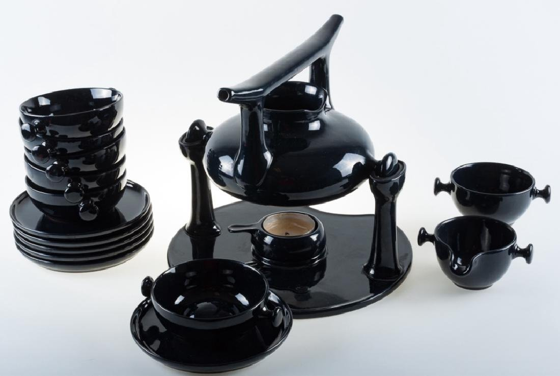 Luigi Colani Zen Stoneware Tea Set Circa 1970s