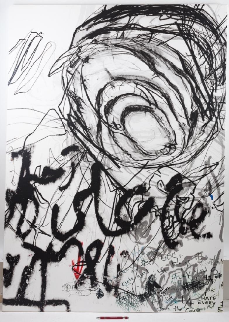 Dennis Balk Ink on Canvas - 3