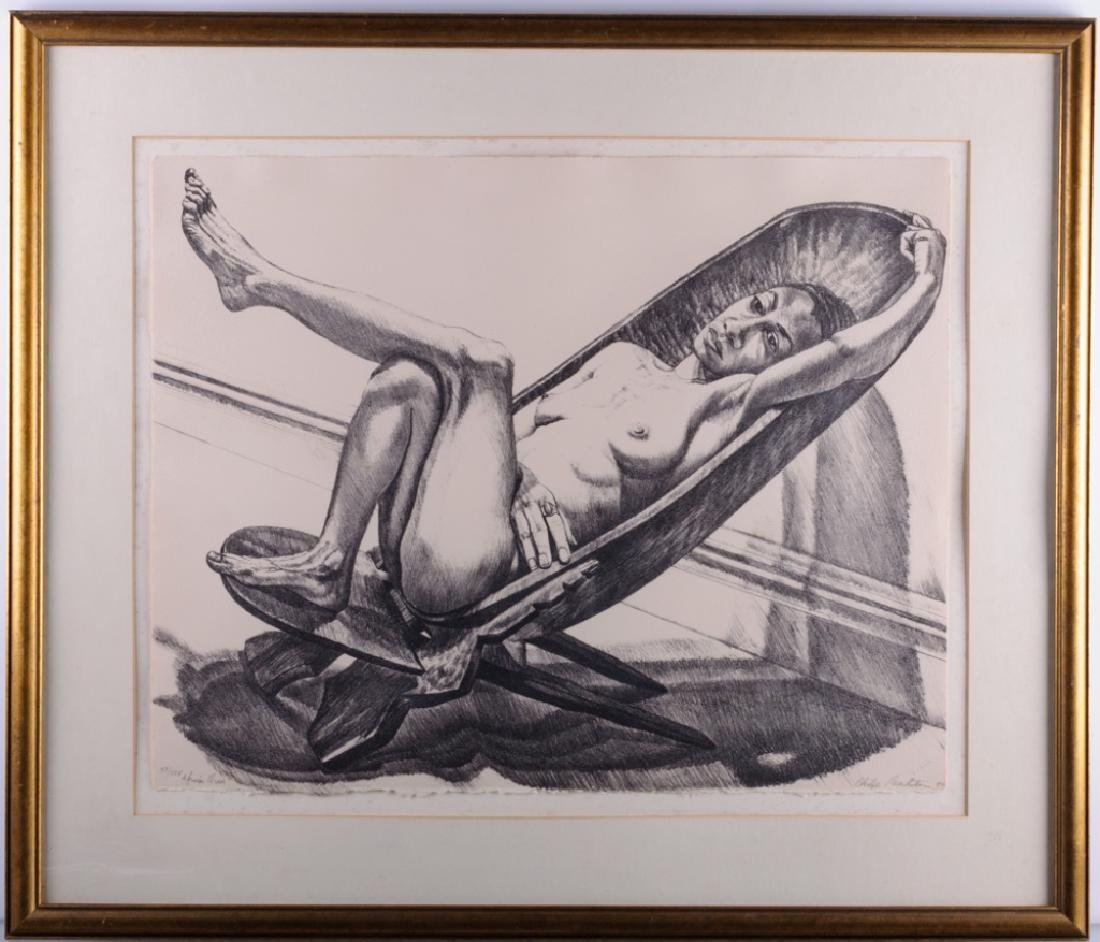 "Philip Pearlstein ""African Chair"" Lithograph 20/25"