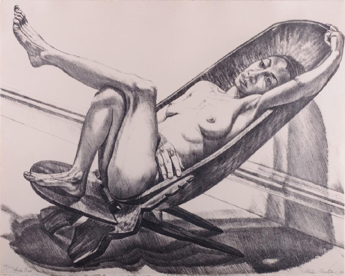 "Philip Pearlstein ""African Chair"" Lithograph 20/25 - 2"