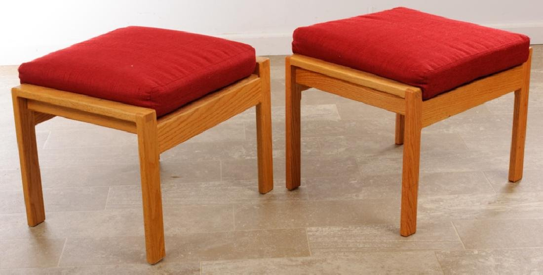 Barrel Back Guest Chairs Pair w/ Footstools - 10