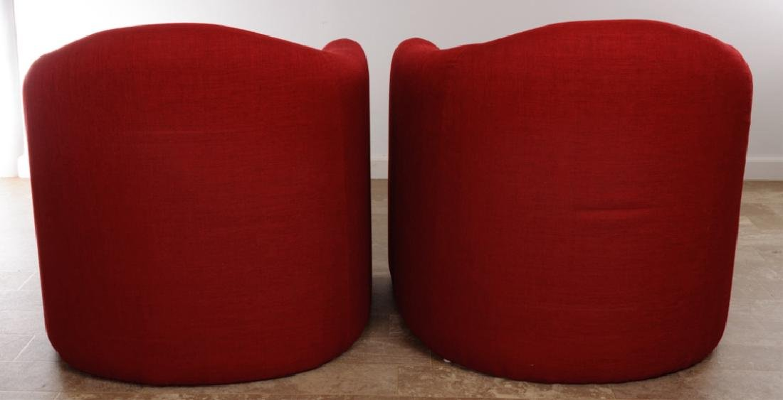 Barrel Back Guest Chairs Pair w/ Footstools - 7