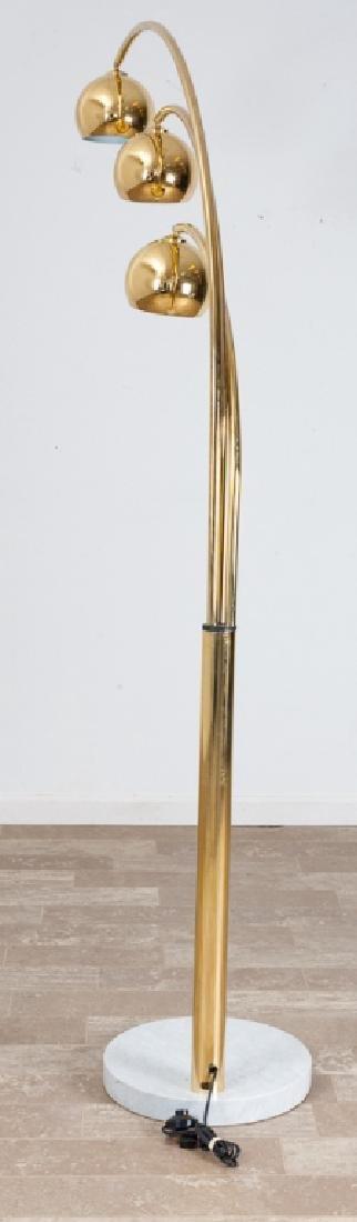 Brass Triple Arc Eyeball Floor Lamp - 2