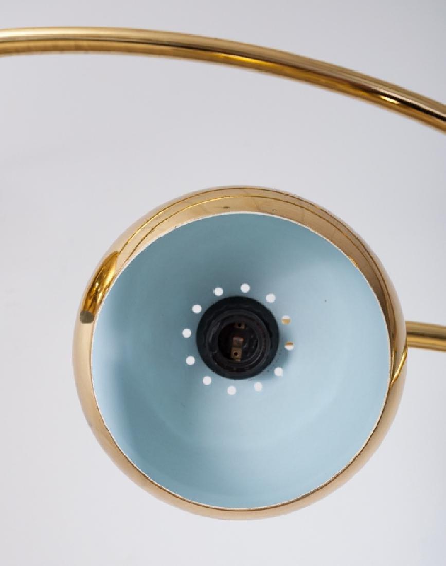 Brass Triple Arc Eyeball Floor Lamp - 4