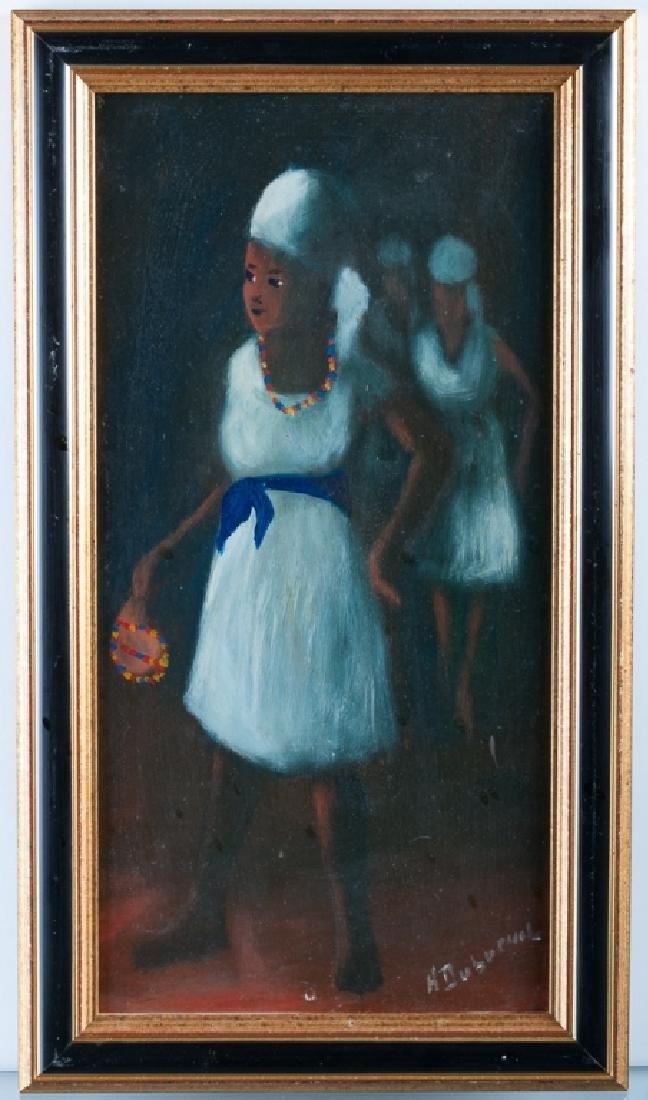 Henry Dubreuil Oil on Masonite Portrait Painting