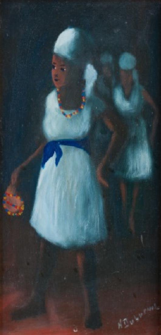 Henry Dubreuil Oil on Masonite Portrait Painting - 2