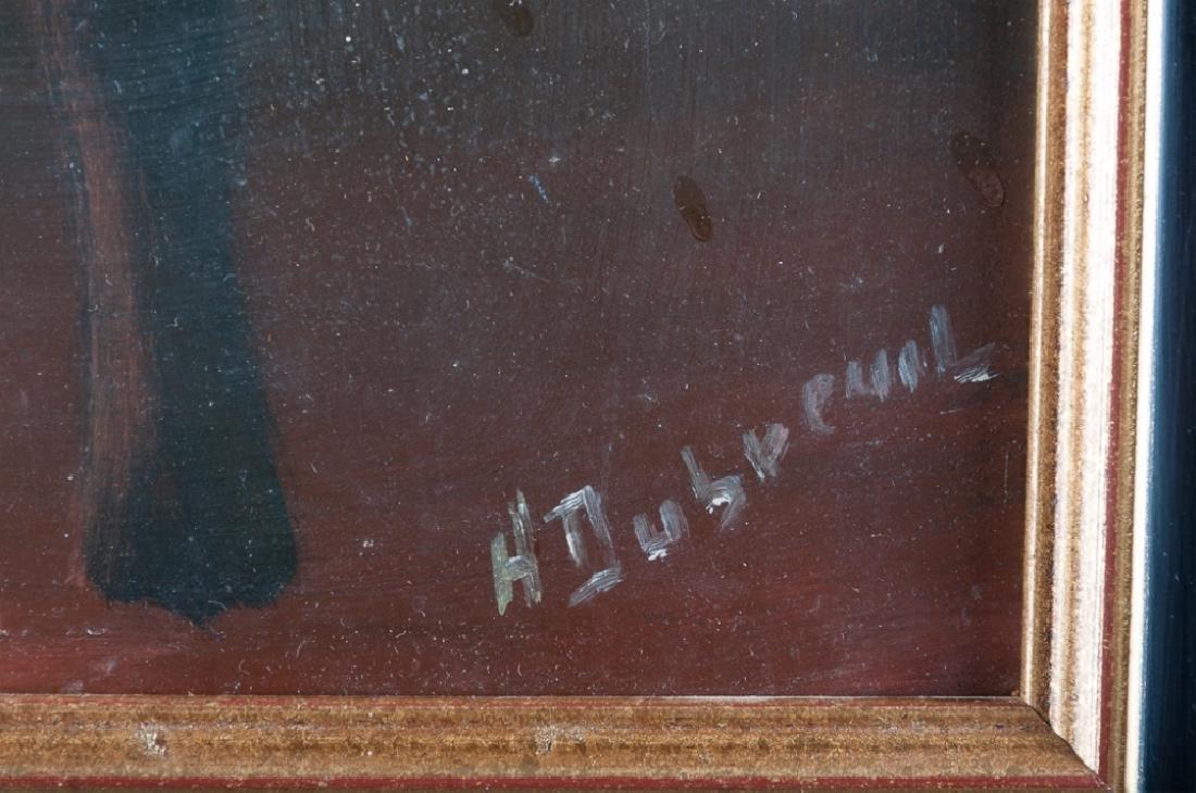 Henry Dubreuil Oil on Masonite Portrait Painting - 3