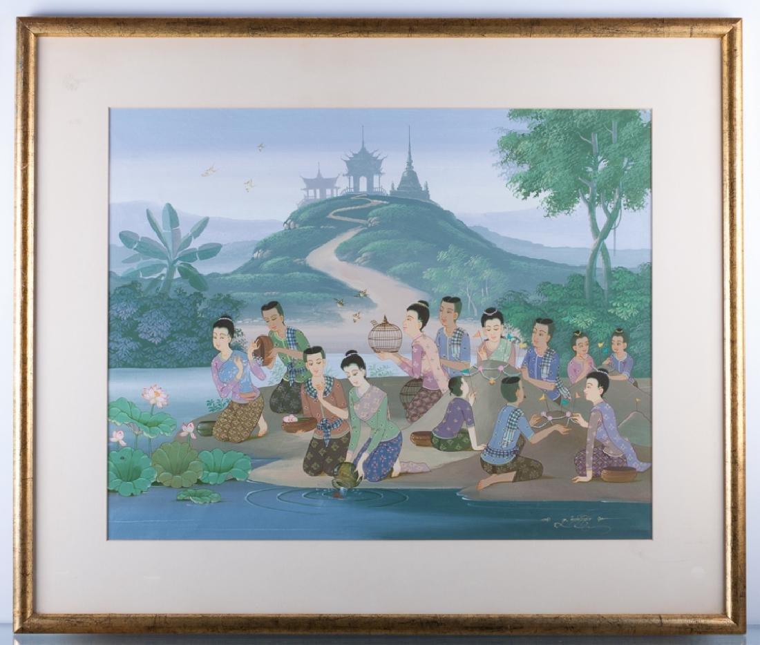 Thai Gouache on Paper
