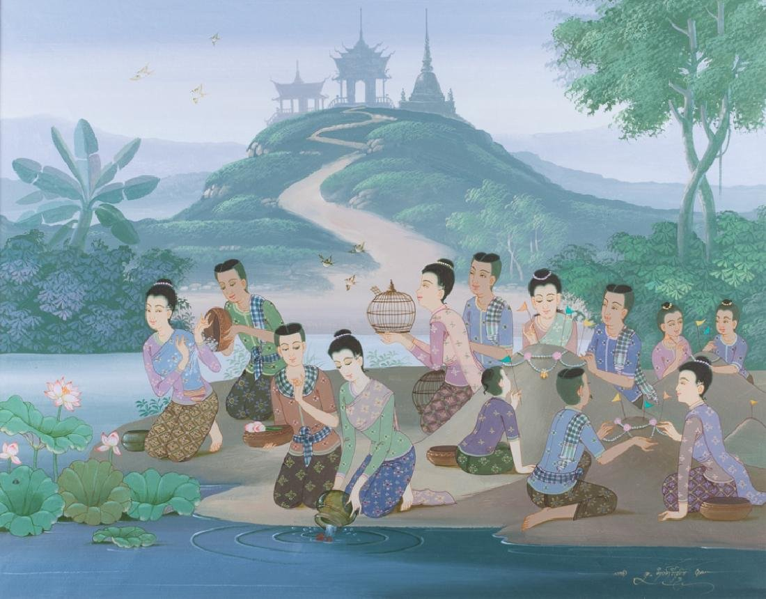 Thai Gouache on Paper - 2