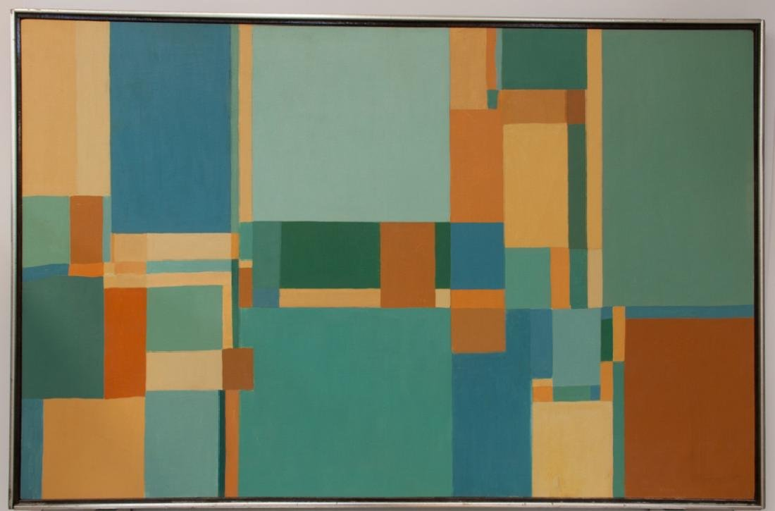 Kahn Untitled Geometric Abstract Painting