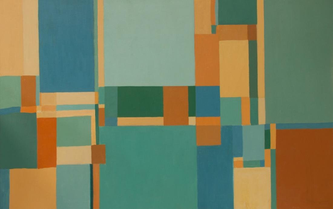 Kahn Untitled Geometric Abstract Painting - 2