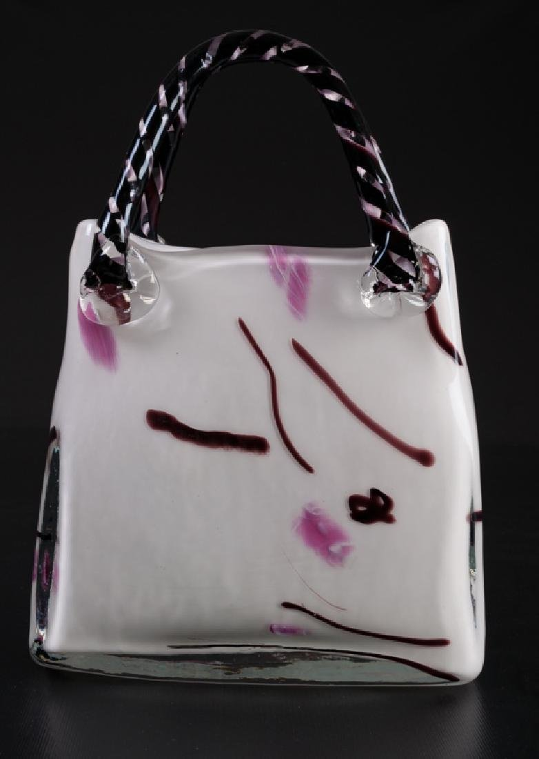 Blown Glass Purse Sculpture - 4