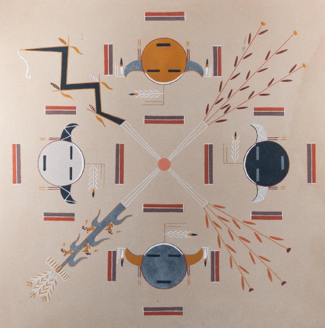 Harry A. Begay Navajo Sand Painting