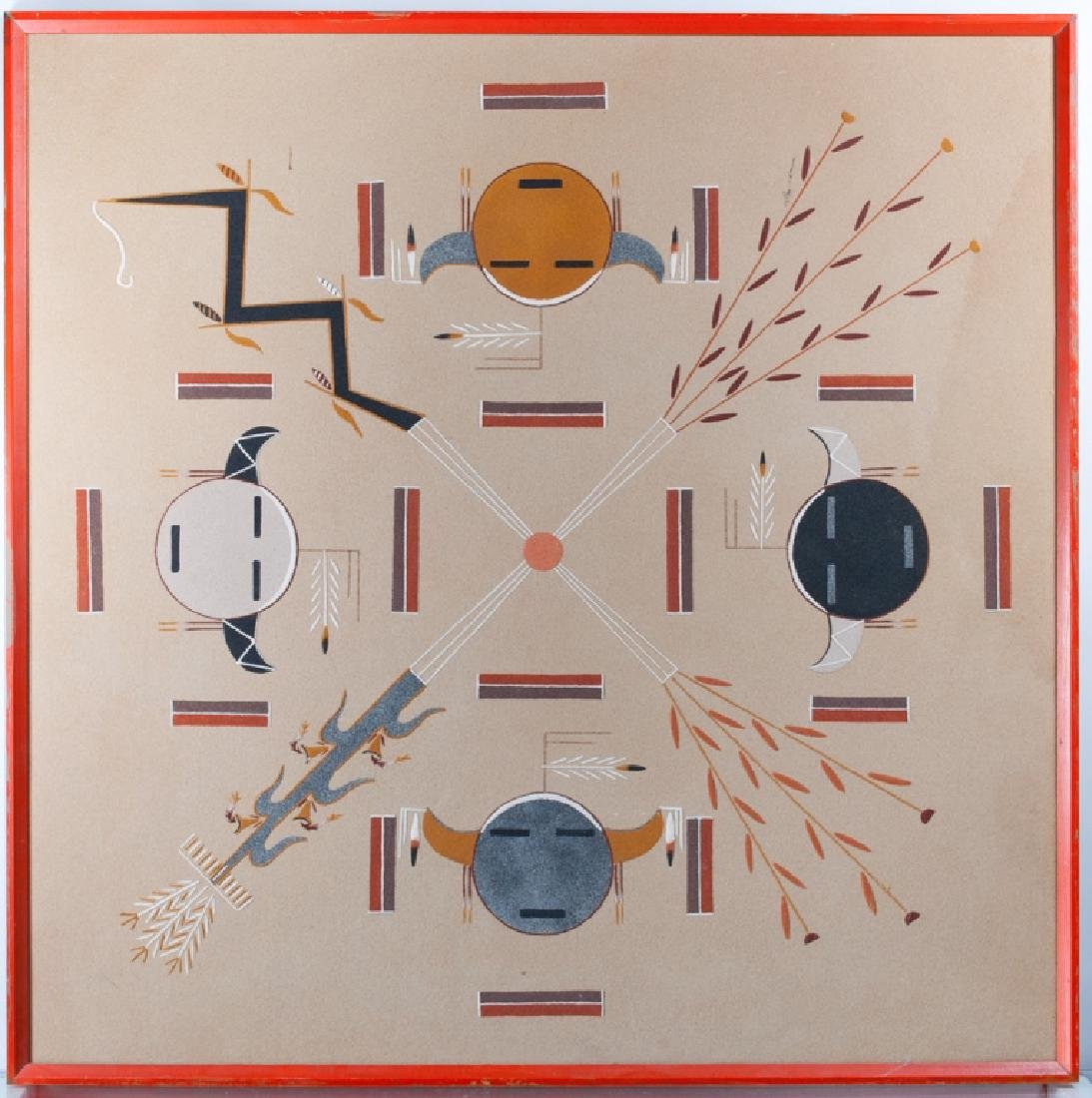 Harry A. Begay Navajo Sand Painting - 2