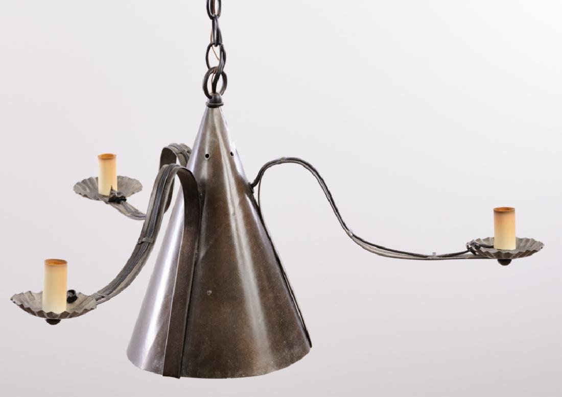 Colonial Style Witch's Hat Tin Pendant Chandelier