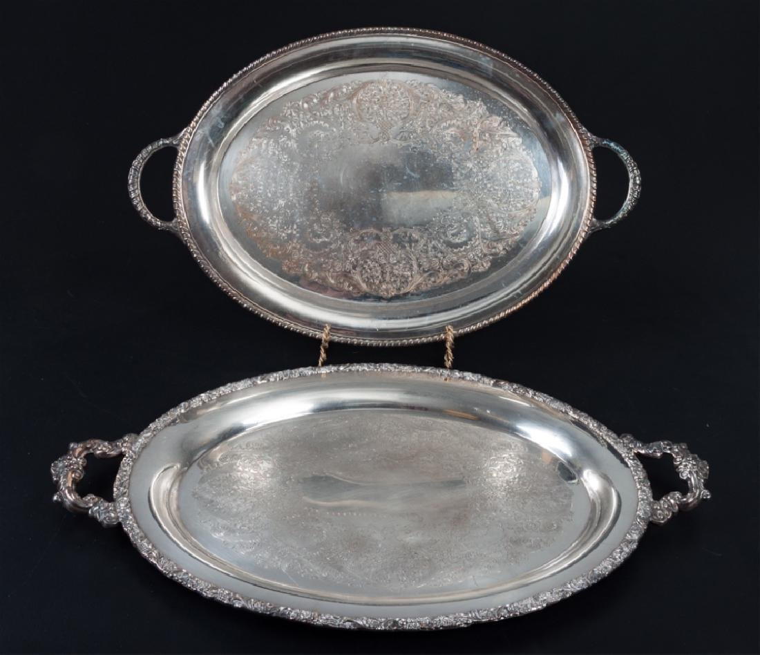 Wilcox & Wm. Rogers Silver Plated Serving Trays