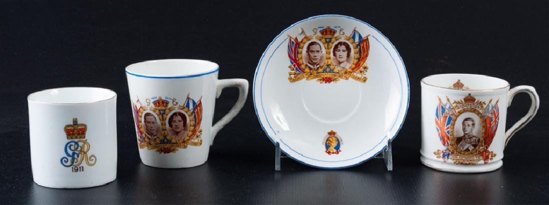 English Coronation Commemorative Cups and Saucer