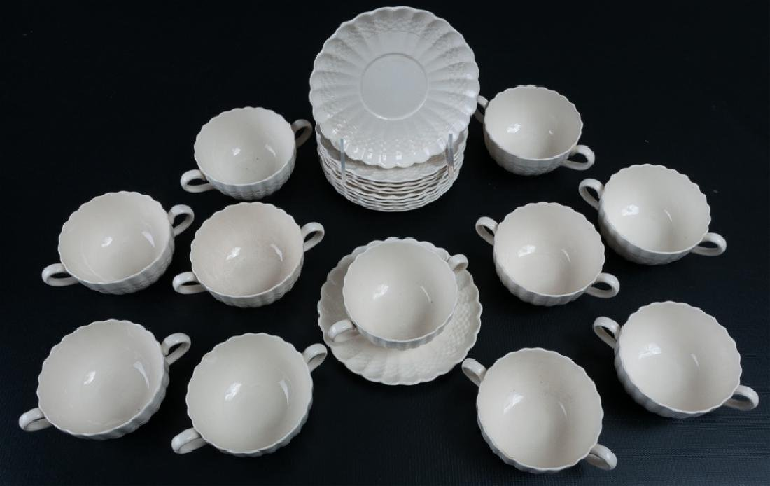 "Copeland Spode ""Chelsea Wicker"" Tea Cups & Saucers"