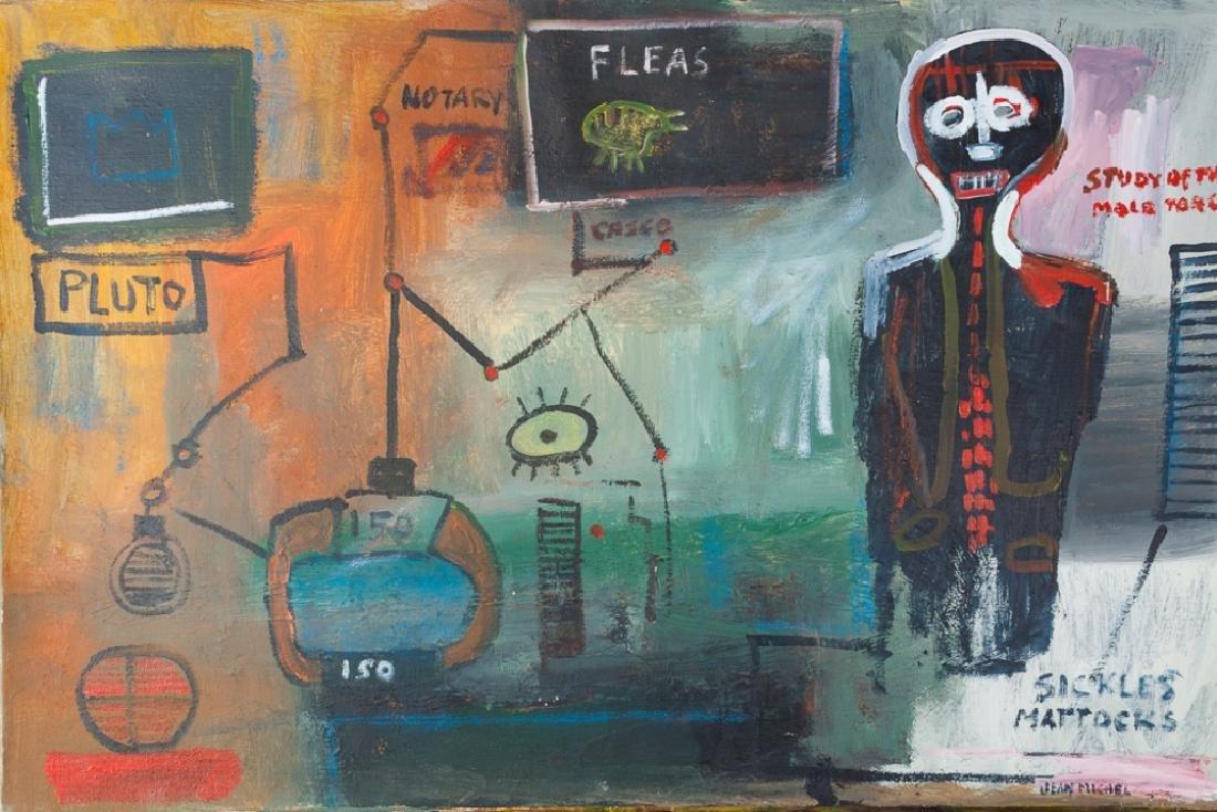 """Jean-Michel Basquiat """"Study of the Male Torso"""""""