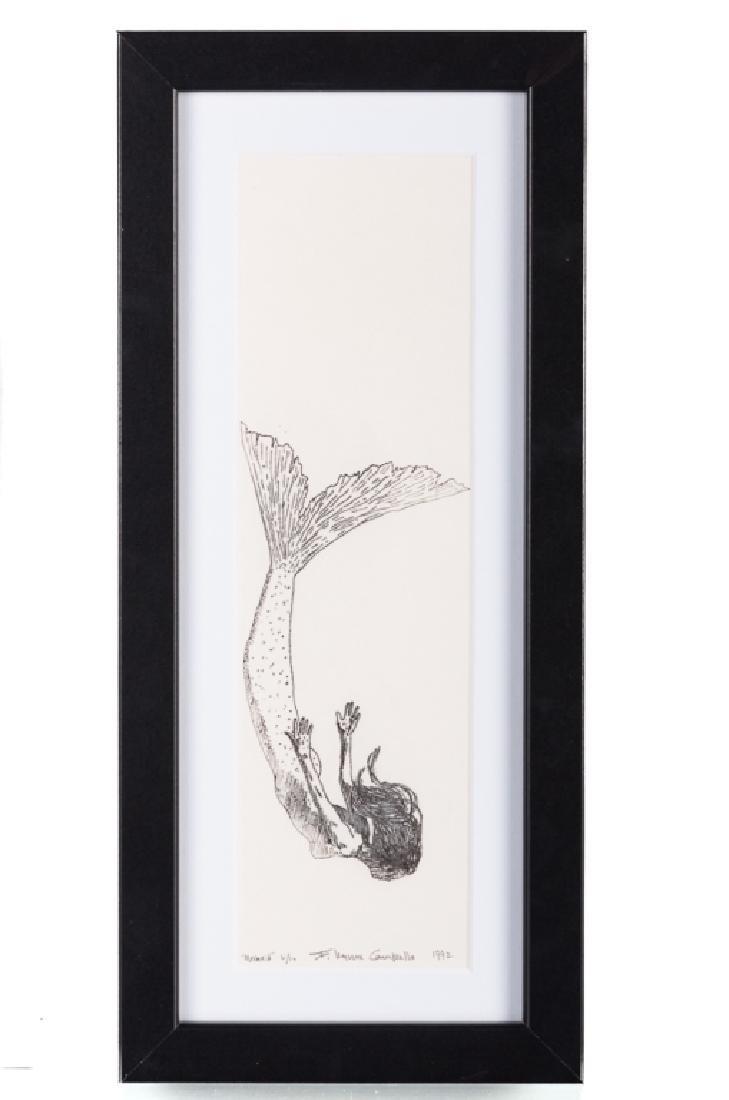 """F. Lennox Campello #6/10 """"Mermaid"""" Signed Litho"""