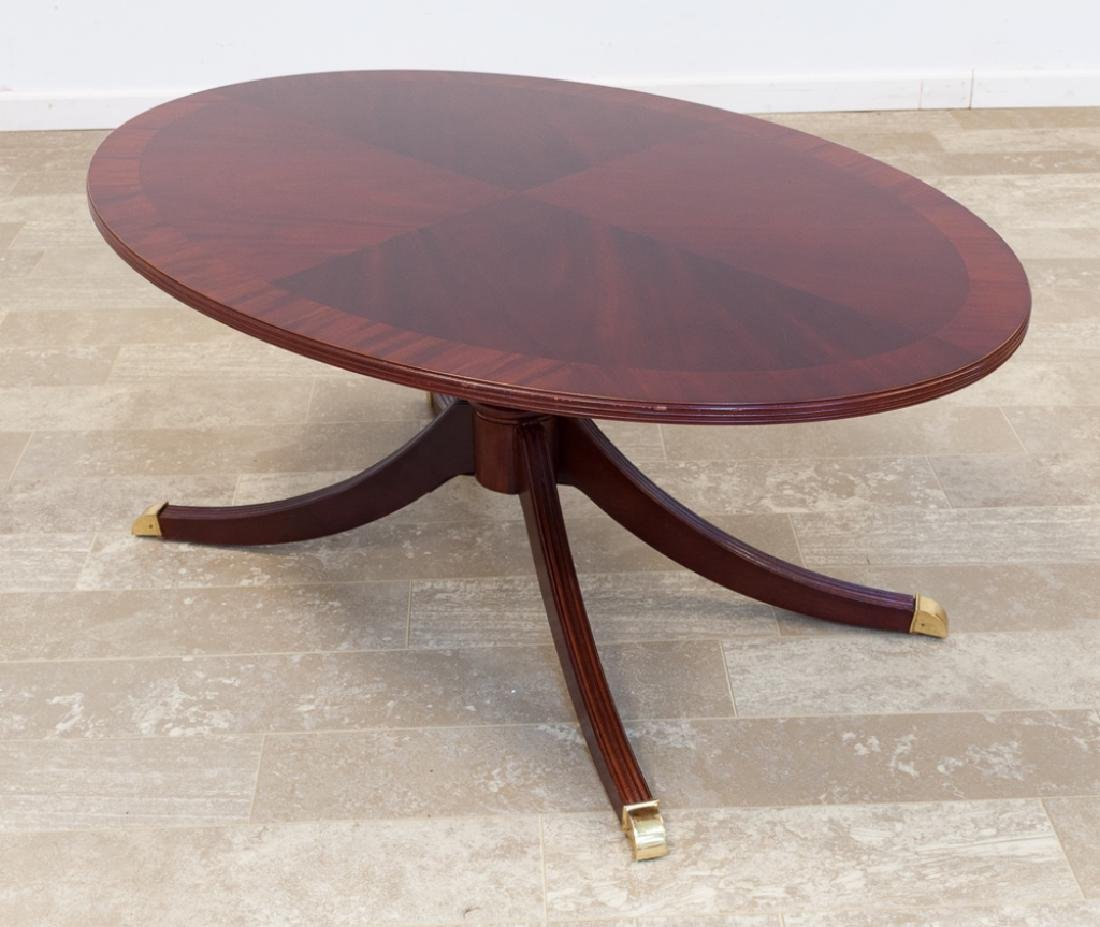 Bernhardt Mahogany Oval Coffee Table