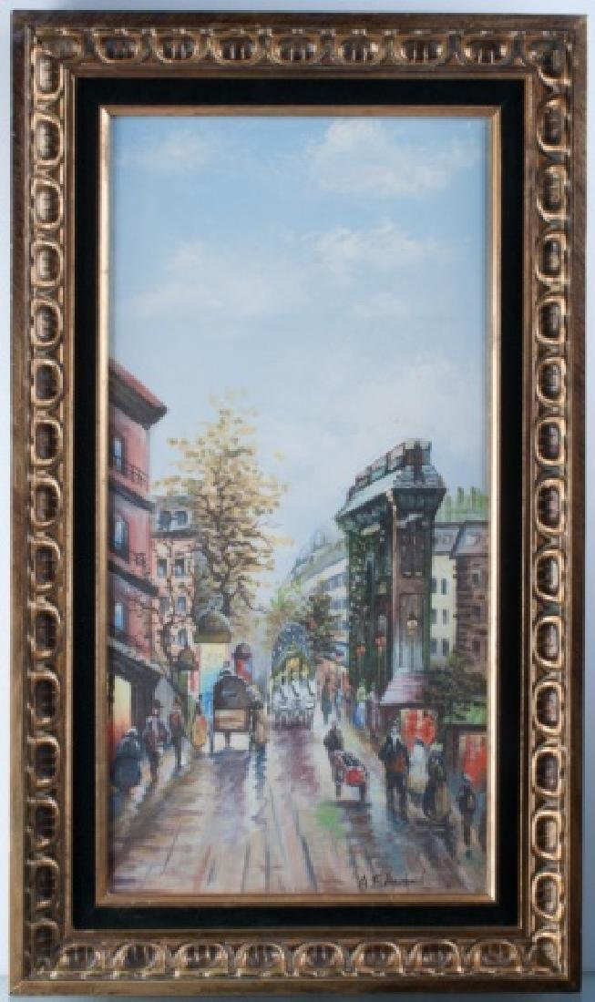 Antoine Blanchard Oil On Canvas Street Scene