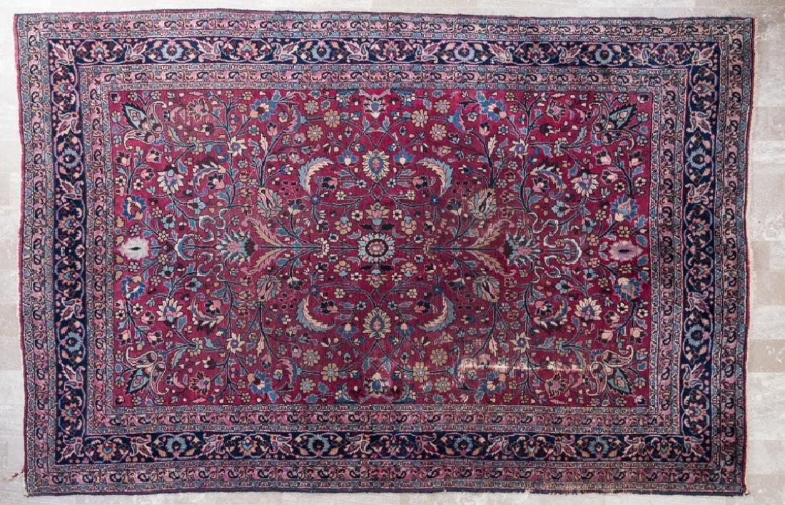 """Antique Sarouk 6'8"""" x 10' Rug"""