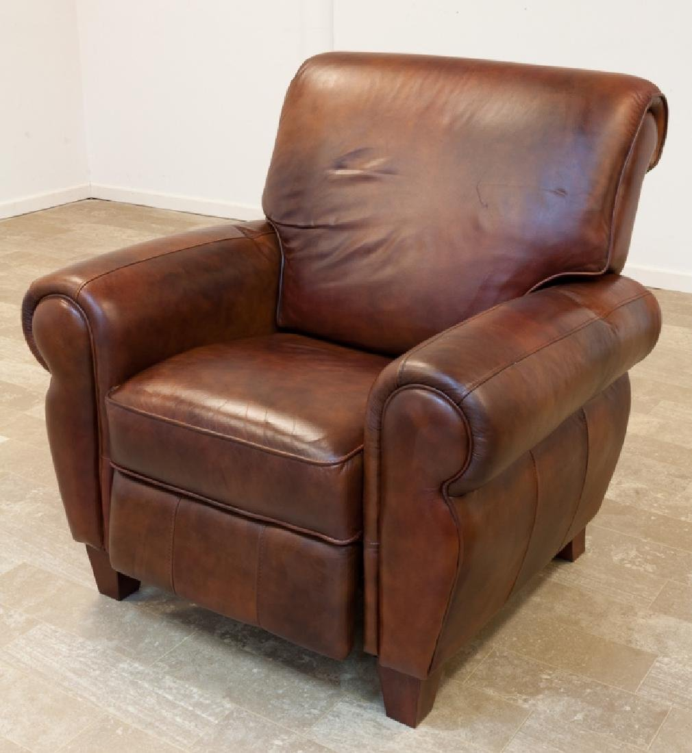 Leather Recliner, Woodworth Wooden Industries