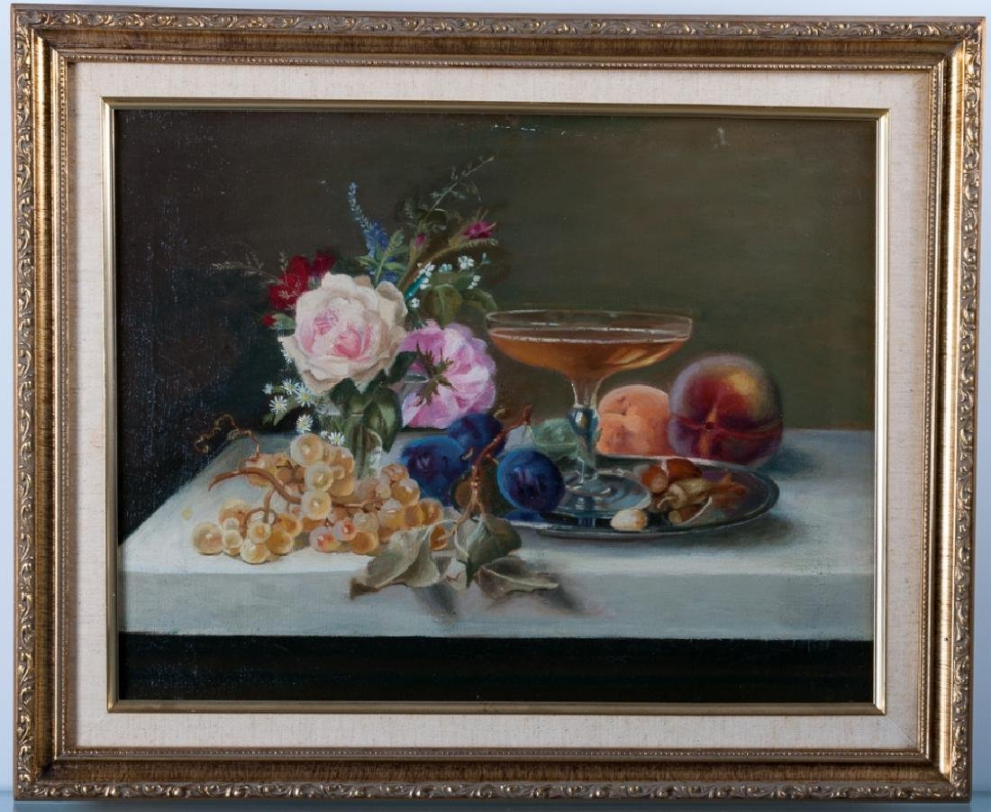 Rosenfeld Still Life MMA Copy Oil on Canvas