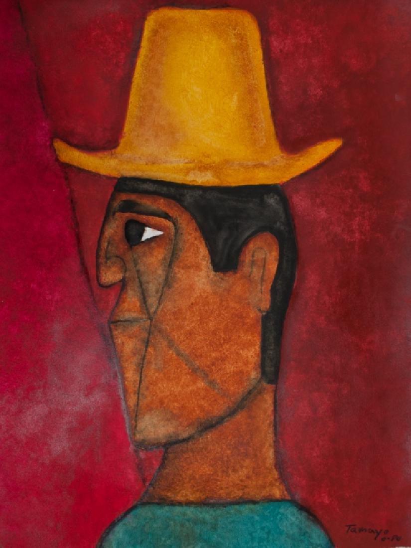 "Tamayo Gouache on Paper ""Hombre con Sombrero"""