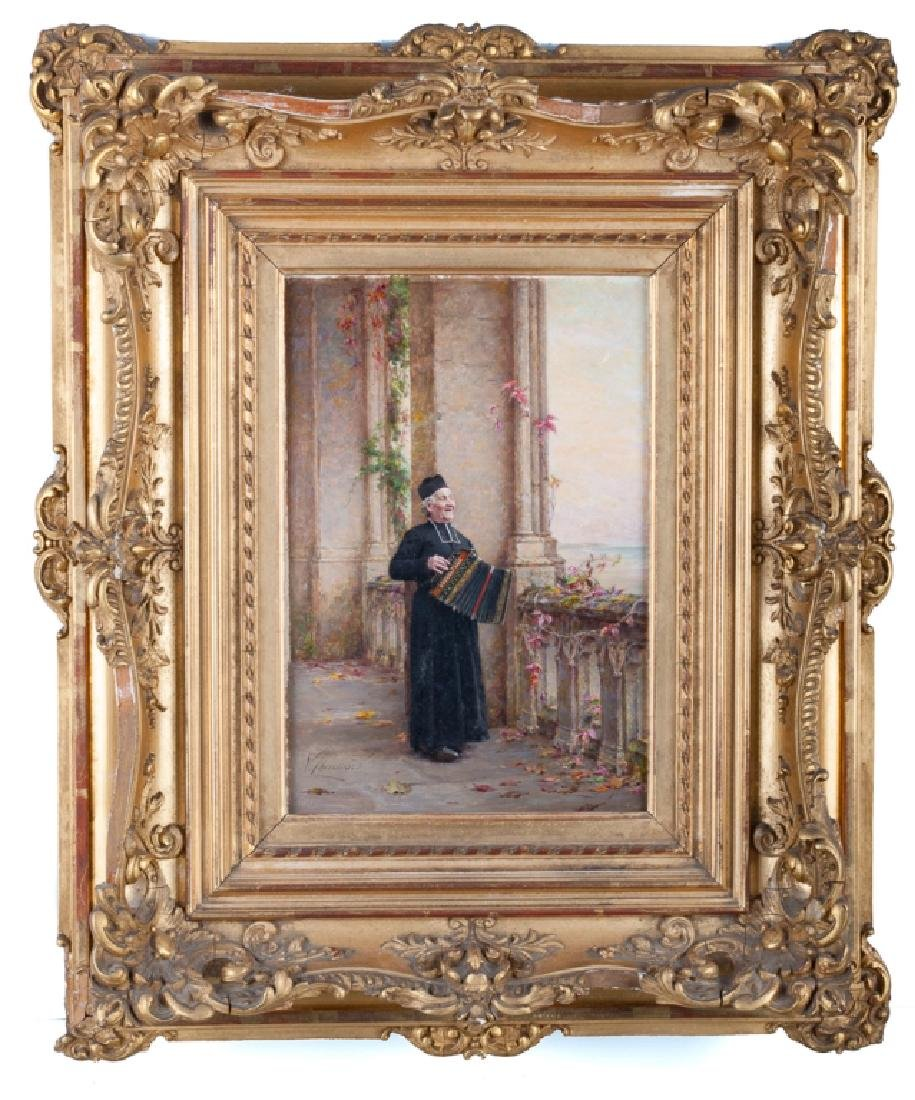 Vincent Chevilliard Portrait Oil on Panel