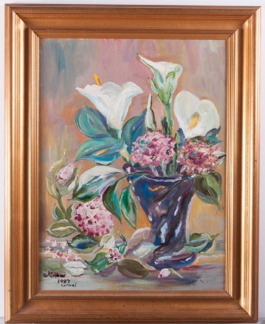 G. Klaiber Floral Still Life Oil On Canvas