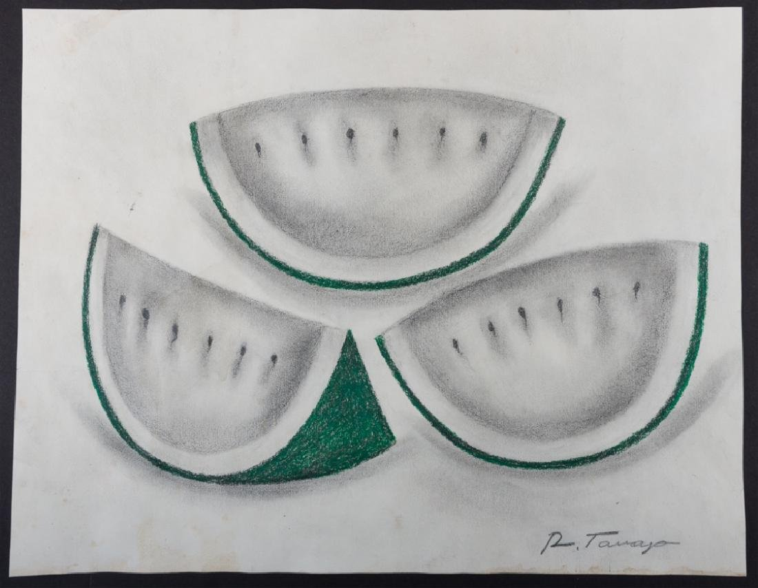 "Rufino Tamayo Graphite & Colored Pencil ""Sandias"""