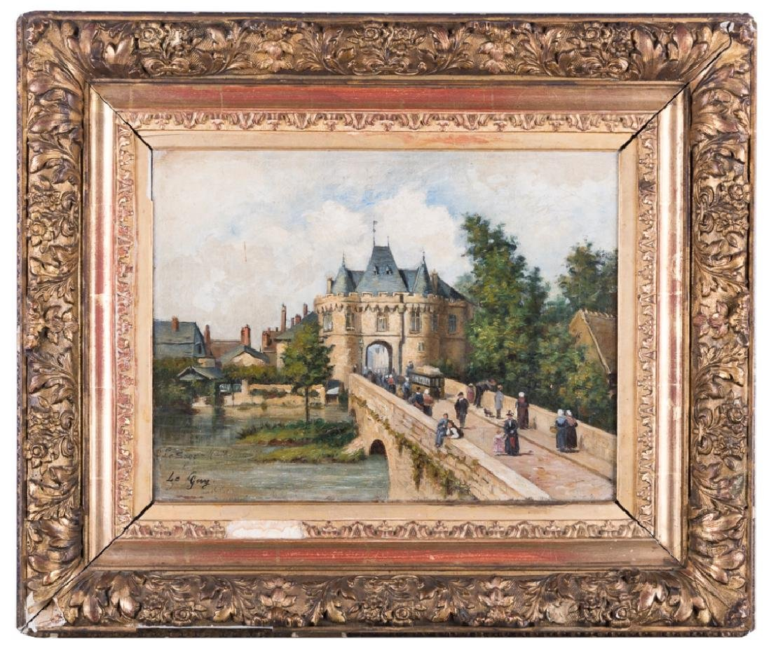 French Oil on Canvas Painting, E-M 19th C