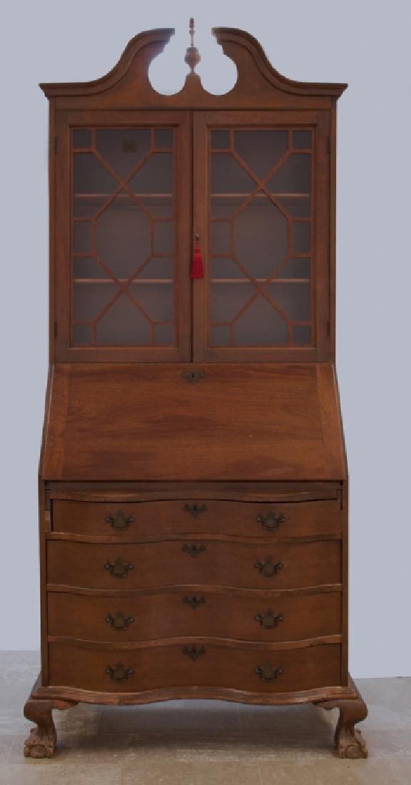 Walnut Secretary Bookcase