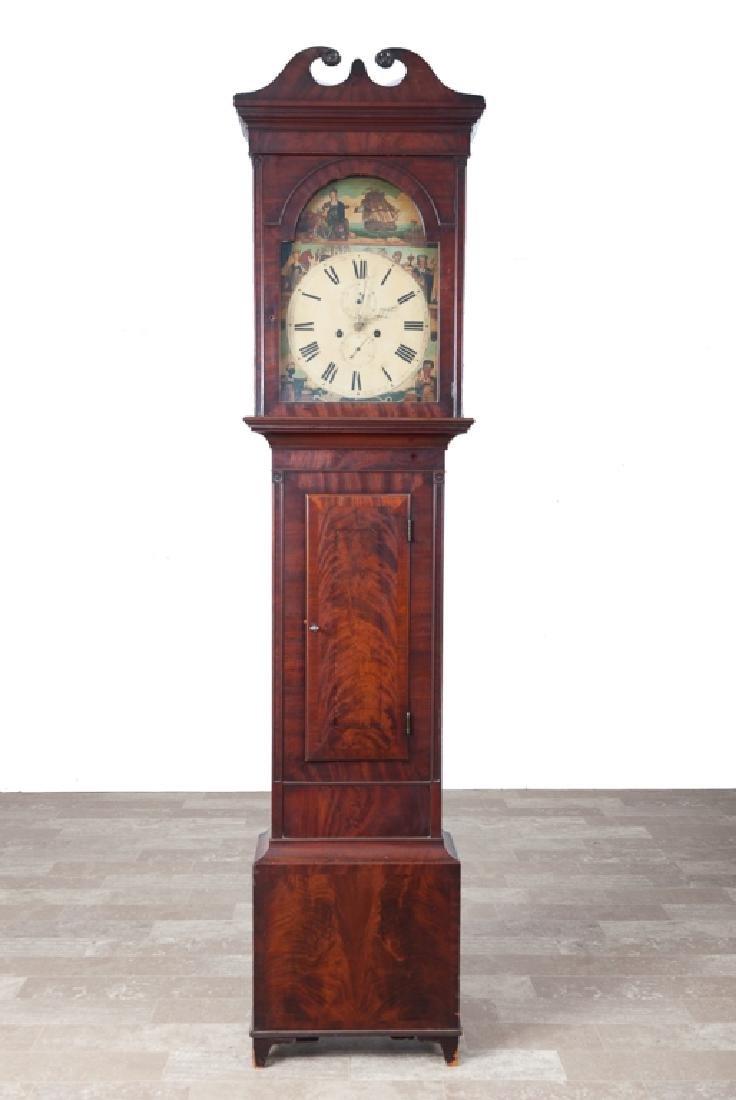 British Tall Case Clock, L 18th / E 19th C
