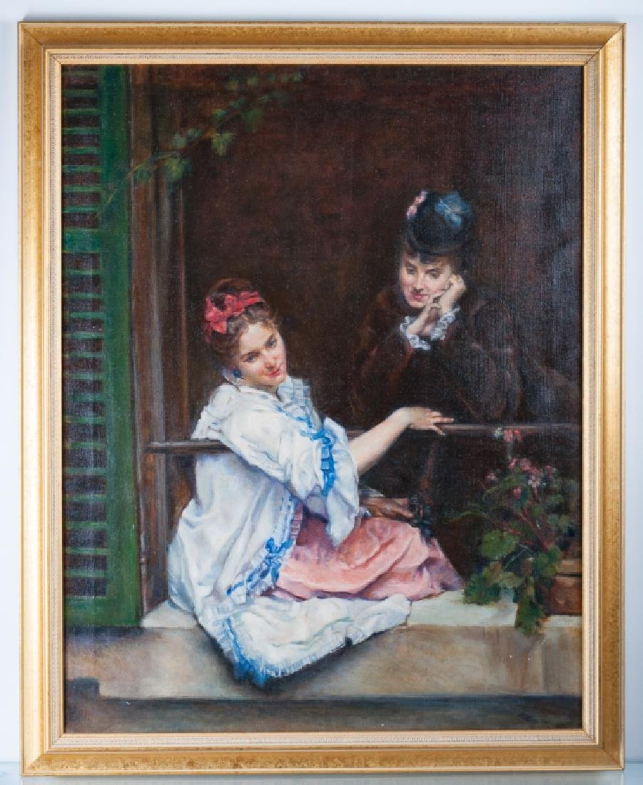 Rosenfeld Oil on Canvas after Raymundo de Madrazo