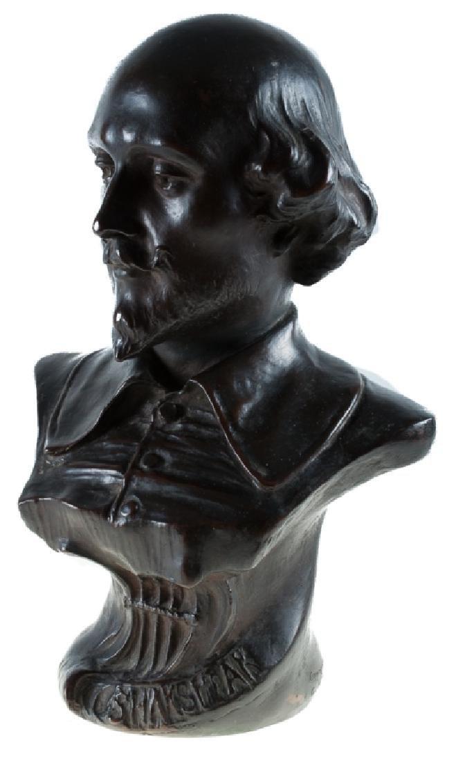 Giuseppe Moretti Shakespeare Bronze Bust
