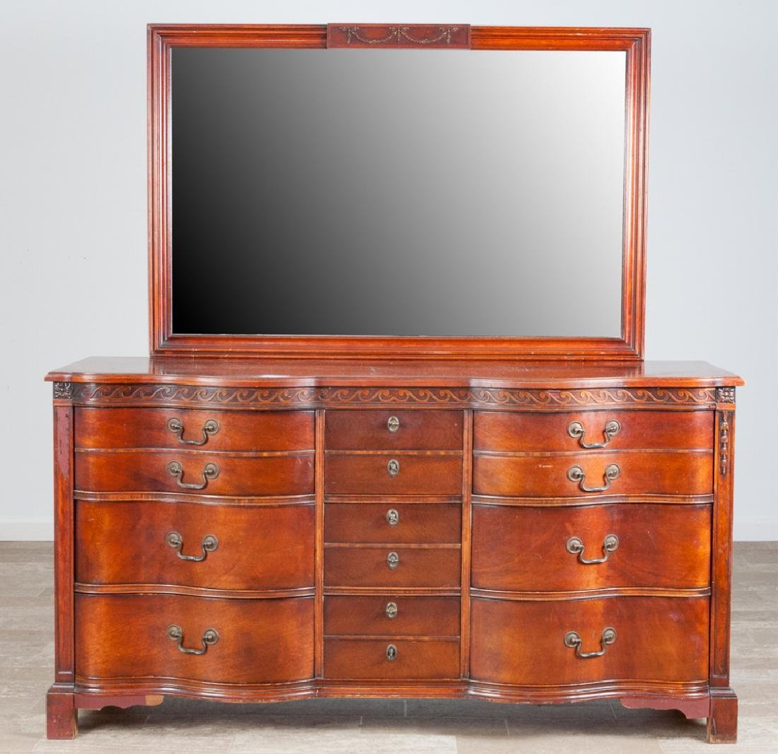 Kent Coffey 1940's Mahogany Dresser w/ Mirror