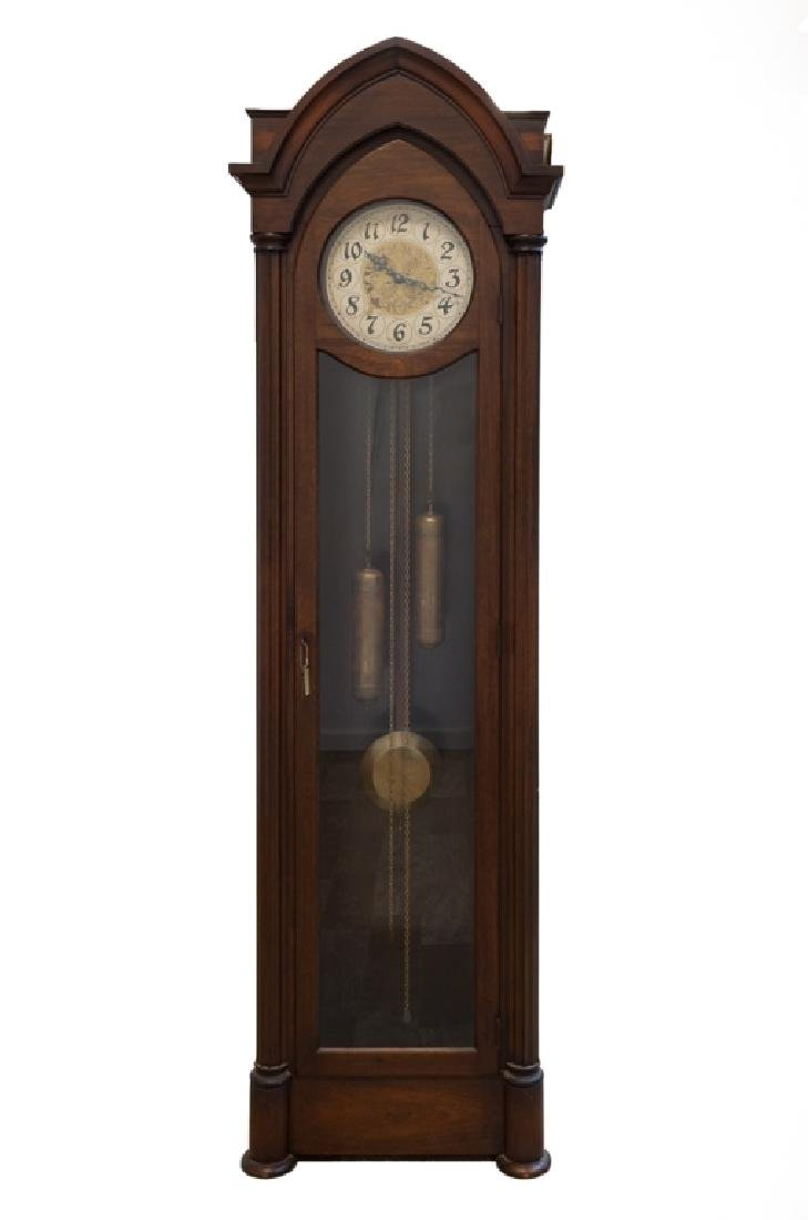 Hanson Clock Co. Gothic Style Tall Case Clock