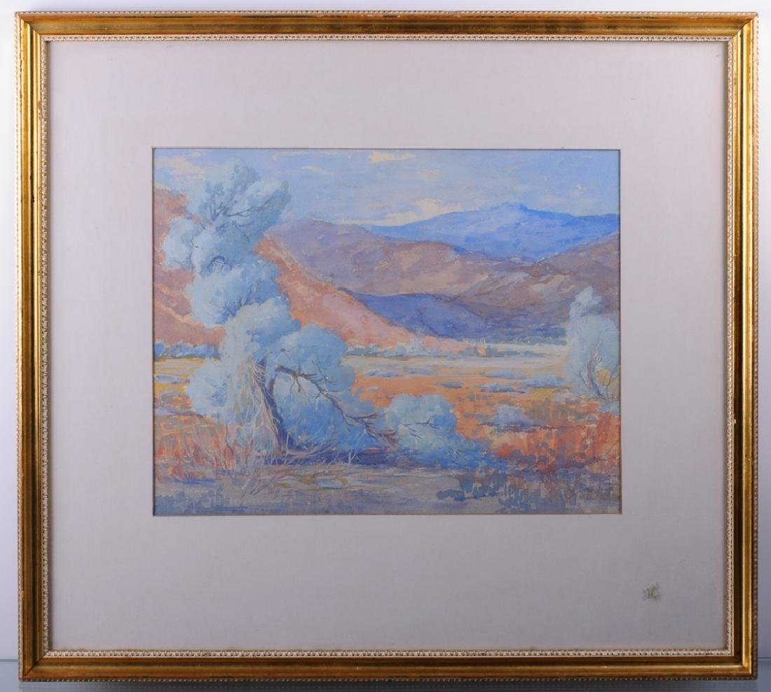Charles Bergstrom Landscape Watercolor on Paper