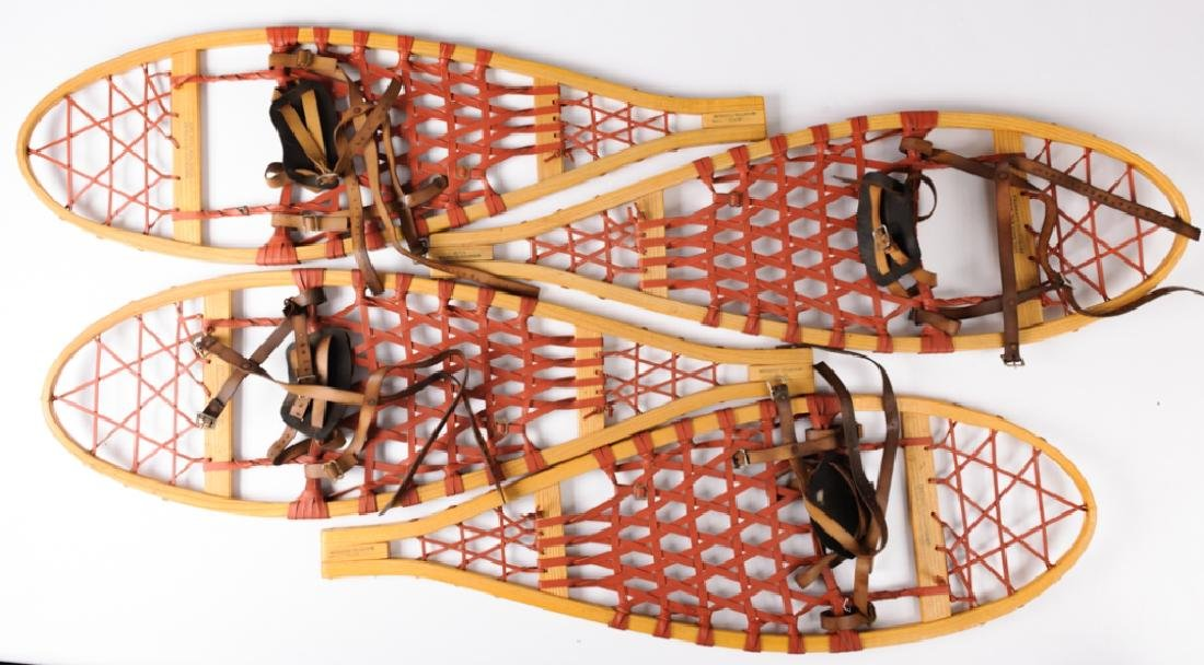 Freeman's Modified Bear Paw Snowshoes, Two Pair