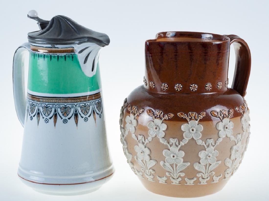 English Pottery Duo, Incl. Doulton Lambeth