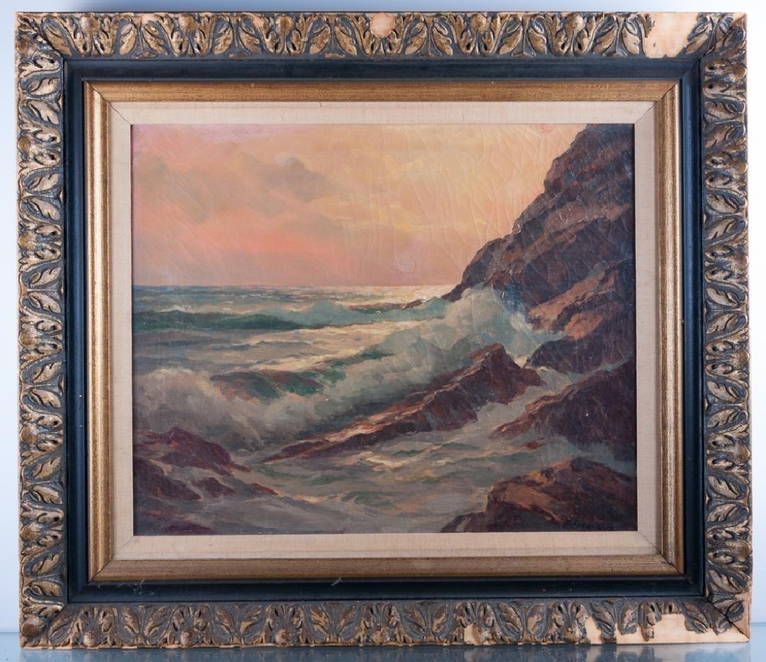 Frank Ferruzza Seascape Oil On Canvas