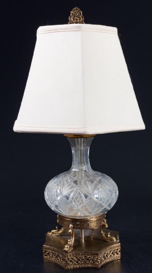 Anglo-Irish Cut Glass Decanter Lamp
