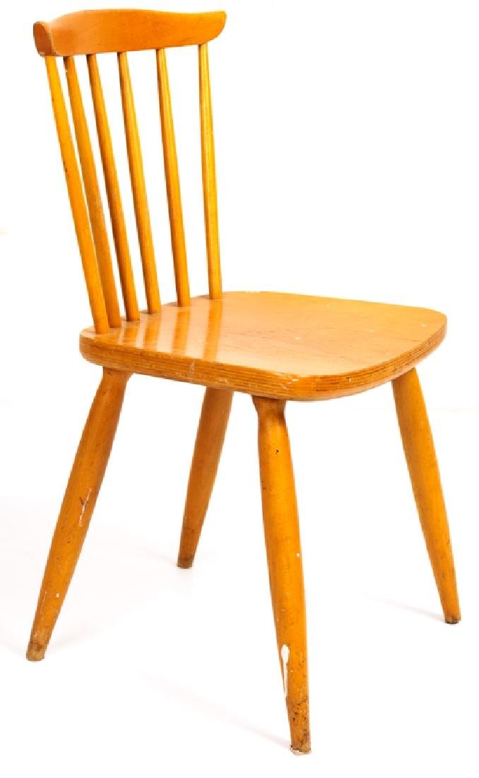Blonde Windsor Style Side Chair